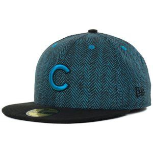 Chicago Cubs Herringbone Tonal Print Fitted Hat